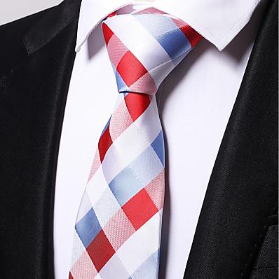 cheap Tuxedos & Suits-Men's Work Necktie - Plaid / Checkered