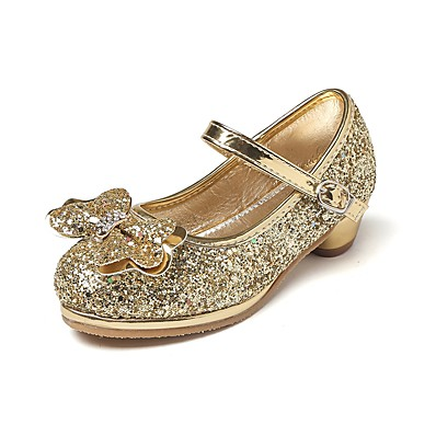 ecb4eb1803c ADOR® Girls  Shoes Glitter Spring   Fall Comfort   Flower Girl Shoes   Tiny  Heels for Teens Heels Rhinestone   Bowknot   Magic Tape for Silver