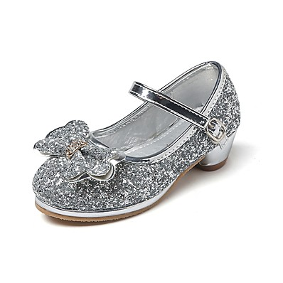 910562953096 ADOR® Girls' Shoes Glitter Spring / Fall Comfort / Flower Girl Shoes / Tiny  Heels for Teens Heels Rhinestone / Bowknot / Magic Tape for Silver