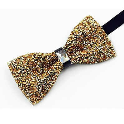 cheap Tuxedos & Suits-Men's Vintage / Party Bow Tie - Crystal / Rhinestone