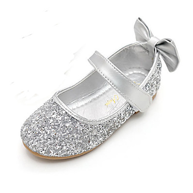 ADOR® Girls' Shoes Sparkling Glitter Spring / Fall Comfort / Novelty / Flower Girl Shoes Flats Bowknot / Magic Tape for Gold / Silver
