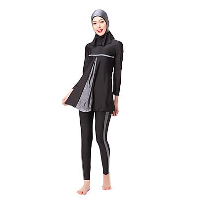 cheap Tankinis-Women's Basic / Boho Halter Neck Bikini - Color Block