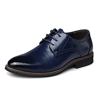 cheap Men's Shoes-Men's Formal Shoes Leather / Cowhide Spring / Fall Oxfords Black / Yellow / Blue / Party & Evening / Split Joint / Party & Evening / EU40