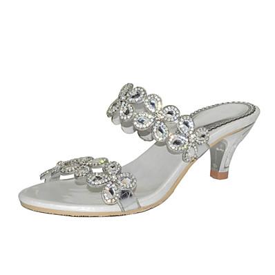 8269fc341 ADOR® Women s Polyurethane Spring   Summer Fashion Boots Sandals Stiletto  Heel Open Toe Rhinestone   Crystal   Sparkling Glitter Gold   Black    Silver ...