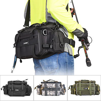 cheap Fishing-Fishing Tackle Bag Tackle Box Waterproof 2 Trays Oxford Cloth 20 cm