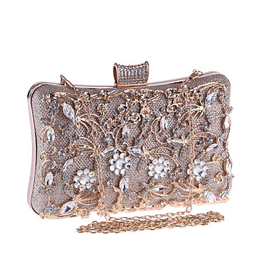 cheap NewIn-ADOR® Women's Bags Metal Evening Bag Crystals Champagne / Black / Silver