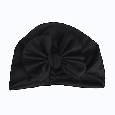 cheap Kids' Accessories-Toddler / Infant Unisex Active / Sweet / Boho Solid Colored Bow Cotton Hats & Caps Black / White / Blushing Pink One-Size
