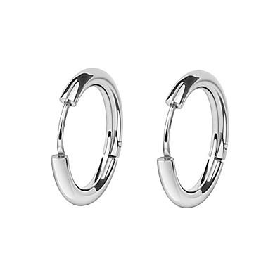 cheap Men's Jewelry-Men's Women's Hoop Earrings Huggie Earrings Machete European Fashion Earrings Jewelry Black / Silver For Wedding Daily Masquerade Engagement Party Prom Street