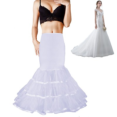 cheap Wedding Accessories-Wedding / Formal Evening Slips Polyester / Spandex / Chinlon Floor-length / Tea-Length Shaping Slips / Voiles & Sheers with Draping / Ribbons / Ruching
