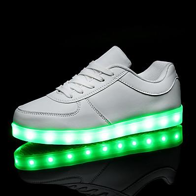 cheap Sneakers-Men's / Women's Sneakers LED Shoes Flat Heel LED PU LED / Comfort / LED Shoes Spring / Fall White / Black / EU40