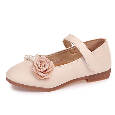 10e8e27a9fc2 ADOR® Girls  Shoes Leatherette Summer Comfort   Flower Girl Shoes Sandals  Magic Tape for Kids Beige   Blue   Pink