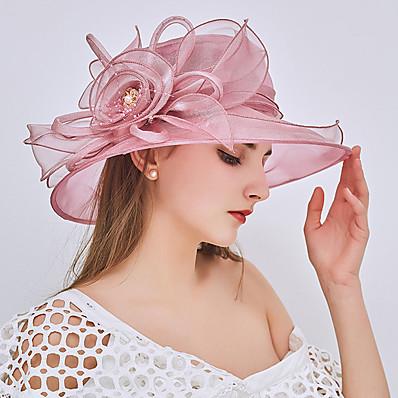 preiswerte Damenschmuck-Damen Fischerhut Perlenbesetzt Rüsche Solide Hut