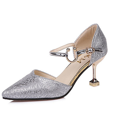 c723b66aec75 ADOR® Women s PU(Polyurethane) Summer D Orsay   Two-Piece Heels Stiletto  Heel Pointed Toe Gold   Black   Silver   Party   Evening   Wedding   Daily    Party ...