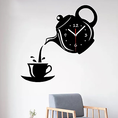 cheap Wall Clocks-Modern / Contemporary Plastic & Metal Irregular Indoor / Outdoor,AA Batteries Powered Wall Clock 31cm*32cm