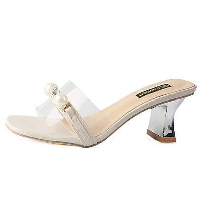 9eb7127c9 ADOR® Women s PU(Polyurethane) Summer D Orsay   Two-Piece Sandals Chunky  Heel Imitation Pearl White   Pink
