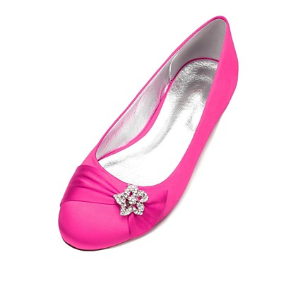 cheap Sandals-Women's Wedding Shoes Glitter Crystal Sequined Jeweled Plus Size Flat Heel Round Toe Basic Sweet Wedding Satin Rhinestone Ribbon Tie Solid Colored Summer White Black Purple