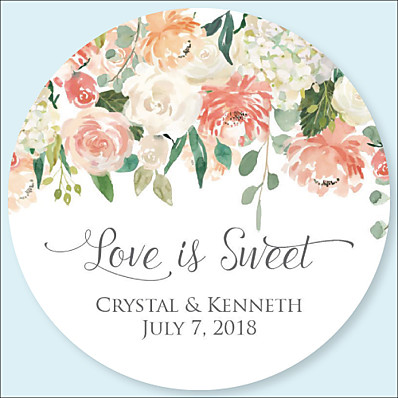 ADOR Wedding Stickers, Labels & Tags - 48 pcs Circular Stickers / Envelope Sticker All Seasons