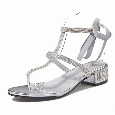 23f022f58 ADOR® Women s PU(Polyurethane) Summer Slingback Sandals Flat Heel Black    Silver