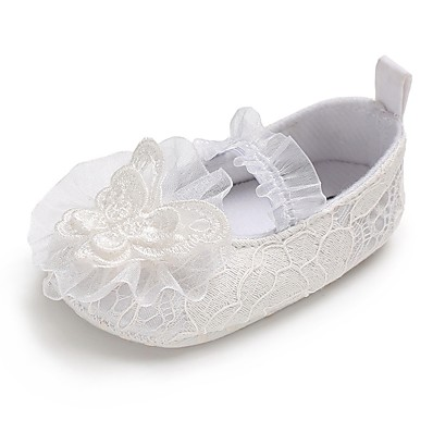 a2253a0a7549 ADOR® Girls  Shoes Lace Spring   Fall Comfort   First Walkers   Crib Shoes  Flats Bowknot   Gore for Baby White   Wedding   Party   Evening