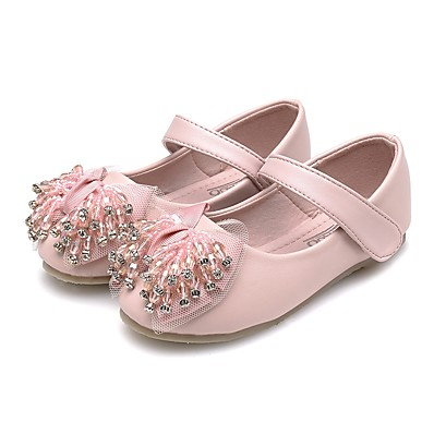 ADOR® Girls  Shoes Faux Leather Spring   Fall Comfort   Light Soles Flats  Rhinestone   Crystal   Bowknot for Kids Pink   Sparkling Glitter   Party    Evening fbddcc6d3791