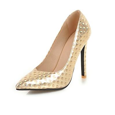 aa5c7fb2bc0d ADOR® Women s Pumps PU(Polyurethane) Spring   Fall Minimalism Heels  Stiletto Heel Pointed Toe Gold   Black   Silver   Wedding   Party   Evening