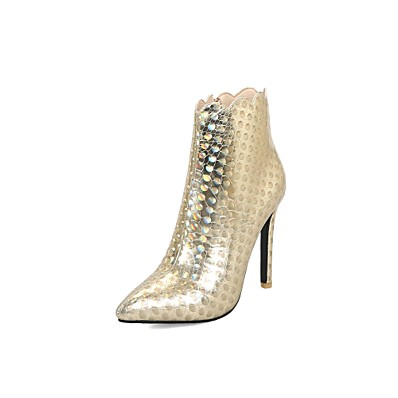 04e6219df3 ADOR® Women's Fashion Boots PU(Polyurethane) Fall & Winter British Boots Stiletto  Heel Pointed Toe Booties / Ankle Boots Gold / Black / Silver / Wedding ...