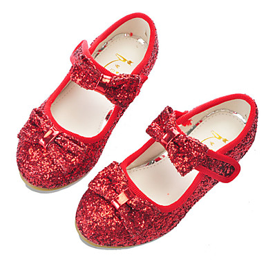 8c21f7f35ff ADOR® Girls  Shoes Synthetics Spring   Fall Flower Girl Shoes Heels Bowknot    Magic Tape for Kids Silver   Red   Pink   Party   Evening