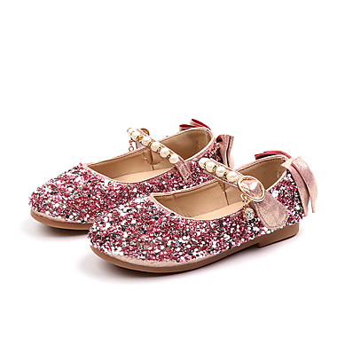 2efe0bf941dd ADOR® Girls  Shoes PU(Polyurethane) Spring   Fall   Spring   Summer Comfort    Flower Girl Shoes Flats Walking Shoes Sequin   Imitation Pearl   Buckle  for ...
