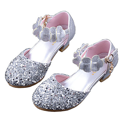 e2268801b8fd ADOR® Girls  Shoes PU(Polyurethane) Spring   Fall Tiny Heels for Teens Heels  Sequin for Kids Gold   Silver   Pink   Polyester Rubber