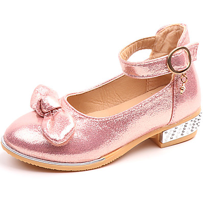 dd00417d04c ADOR® Girls  Shoes Faux Leather   PU(Polyurethane) Spring   Fall   Spring   Summer  Comfort   Mary Jane Flats Walking Shoes Bowknot   Buckle for Kids Gold ...