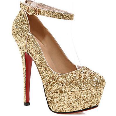 44eb5d8413 ADOR® Women's Shoes Synthetics Spring & Fall Comfort / Basic Pump Heels  Stiletto Heel Gold / Black / Silver