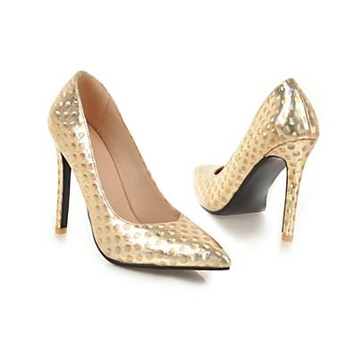 65c14cdbb46a ADOR® Women s Pumps Microfiber   PU(Polyurethane) Spring   Summer Heels  Stiletto Heel Pointed Toe Gold   Black   Silver   Wedding   Party   Evening
