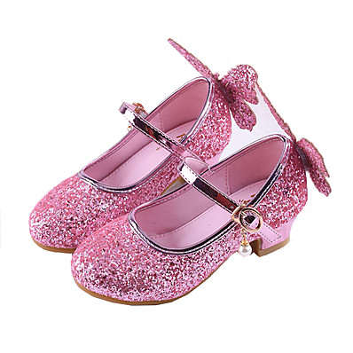 3da6ee027be ADOR® Girls  Shoes PU(Polyurethane) Spring   Fall Tiny Heels for Teens  Heels Sequin for Kids Silver   Pink   Polyester Rubber