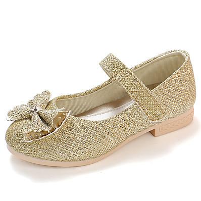 7405b9e683a ADOR® Girls  Shoes PU(Polyurethane) Spring   Fall   Spring   Summer Comfort    Flower Girl Shoes Flats Walking Shoes Rhinestone   Bowknot   Magic Tape  for ...