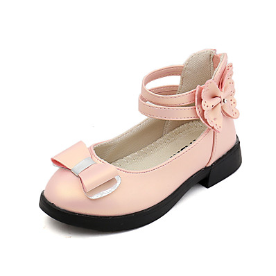 b2121928ed6 ADOR® Girls  Shoes PU(Polyurethane) Spring   Fall   Spring Flower Girl  Shoes Flats Walking Shoes Bowknot for Kids   Teenager Gold   White   Pink