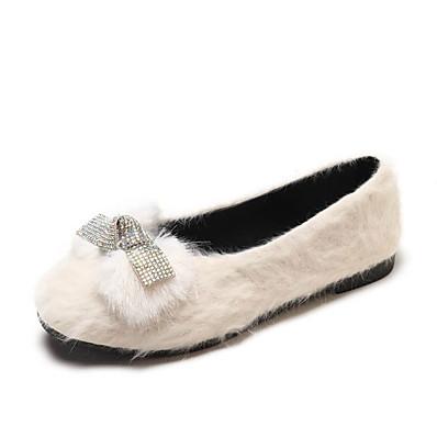 990fd2afda67b ADOR® Women s Comfort Shoes Faux Fur   PU(Polyurethane) Fall Sweet Flats  Flat Heel Black   Beige   Khaki