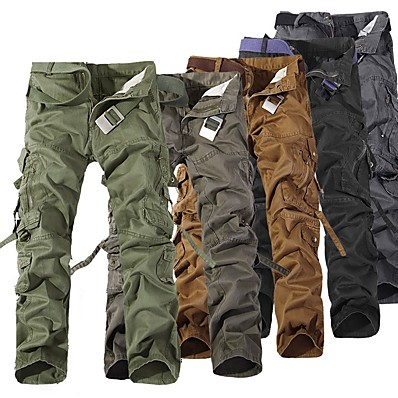 cheap Camping, Hiking & Backpacking-Men's Hiking Pants Hiking Cargo Pants Outdoor Windproof Breathable Comfortable Wear Resistance Winter Cotton Pants / Trousers Bottoms Camping / Hiking Hunting Fishing Black Brown Army Green XXS XS S
