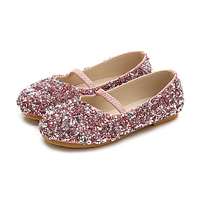 ADOR® Girls  Shoes PU(Polyurethane) Spring   Fall Flower Girl Shoes Flats  Sequin for Kids   Toddler Purple   Blue   Pink e20fe56611c0