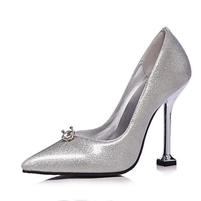 817f3611dfb ADOR® Women s Pumps Microfiber   PU(Polyurethane) Spring   Fall Heels  Stiletto Heel Pointed Toe Rhinestone Rainbow   Silver   Wedding   Party    Evening