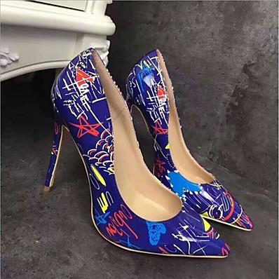 preiswerte Damen High Heels-Damen High Heels Stöckelabsatz Freizeit Alltag PU Weiß Schwarz Blau
