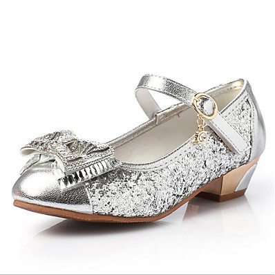 ADOR® Girls  Shoes PU(Polyurethane) Spring   Fall Flower Girl Shoes Flats  Bowknot   Sequin for Kids   Teenager Gold   Silver   Pink 49d4c7d22e2c