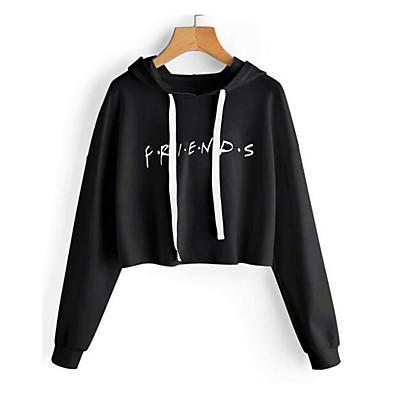 cheap Hoodies & Sweatshirts-Women's Hoodie - Solid Colored Black M