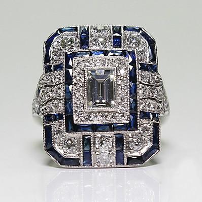 cheap Accessories-Women Ring Classic Blue Alloy Romantic European Trendy 1pc 6 7 8 9 10 / Women's