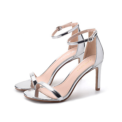 de533baf6d64 ADOR® Women s Patent Leather Spring   Summer Classic Heels Stiletto Heel  Round Toe Buckle Gold   Silver