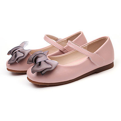 a94fd163a4a ADOR® Girls  Shoes PU(Polyurethane) Spring   Fall Flower Girl Shoes Flats  Bowknot for Kids   Toddler White   Black   Pink   Party   Evening