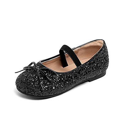 ADOR® Girls  Shoes Synthetics Summer Flower Girl Shoes Flats Sequin for Kids  Black   Silver   Party   Evening 653eae12e794