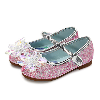 c2e8fed6bf7 ADOR® Girls  Shoes PU(Polyurethane) Spring   Fall Flower Girl Shoes Flats  Crystal   Sequin for Kids   Toddler Purple   Blue   Pink   Party   Evening