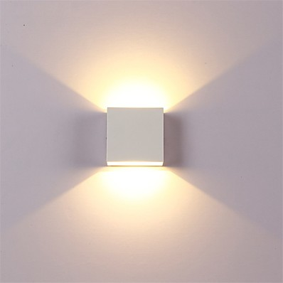 cheap Indoor Lighting-12W LED Aluminium Wall Light Rail Project Square Outdoor Waterproof Wall lamp Bedside Room Bedroom Arts