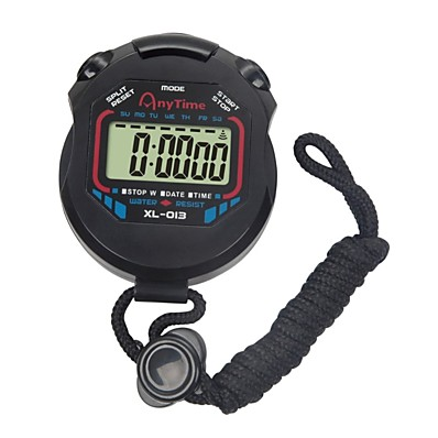 cheap Wall Clocks-LCD Chronograph Digital Timer Sport Stopwatch Professional Handheld Digital Stopwatch Running Chronograph Counter with Strap