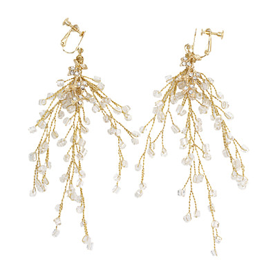 79b15fd8302 Ador Women's Braided Clip on Earring - Stylish Jewelry Gold For Wedding  Party Festival 1 Pair